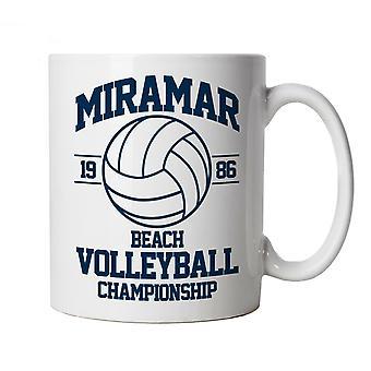 Miramar Beach Volleyball Top Gun Movie Inspired, Mug, Gift for Him Her Dad Mum