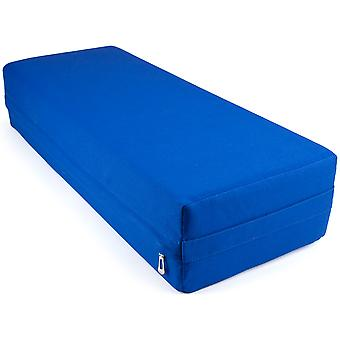 Large 26-inch Blue Yoga Bolster and Meditation Pillow