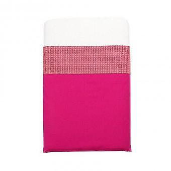 Mundo melocoton - raspberry pink cot sheets (120x150)