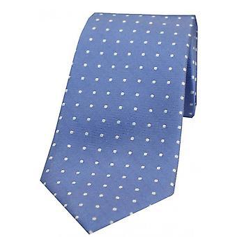 David Van Hagen Small Spots Silk Tie - Blue