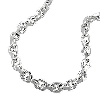 3, 5 mm anchor chain necklace 4 x diamond 925 Silver
