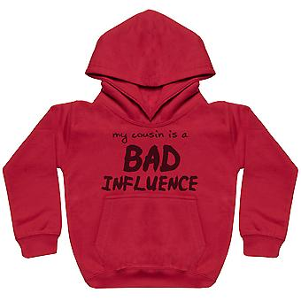 My Cousin Is A Bad Influence Hand Writing - Matching Kids Set - Baby / Kids Hoodies - Gift Set