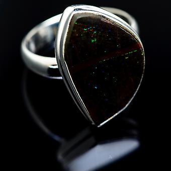Ammolite Ring Size 7.25 (925 Sterling Silver)  - Handmade Boho Vintage Jewelry RING987020