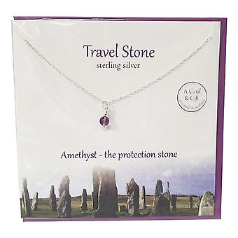 The Silver Studio Travel Stone Amethyst Pendant