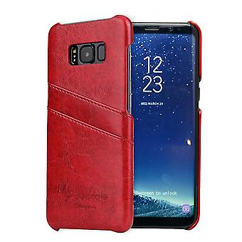 Pour Samsung Galaxy S8 Case,Stylish Deluxe Durable Protective Leather Cover,Red