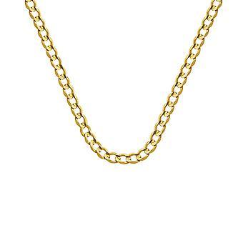 10k gult guld 4.9mm Ljus konkava Curb Chain Armband 8 tums smycken gåvor för kvinnor - 4,8 gram