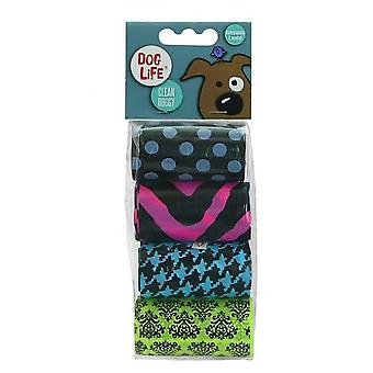 Dog Life Trust Biodegradable Patterned Plastic Poop Bags (Pack Of 4)