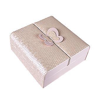 Jewellery box with Butterfly detail - Pink