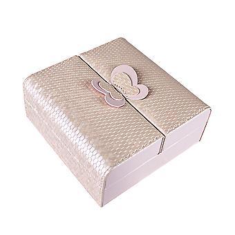Schmuck-Box mit Schmetterling Detail - Pink