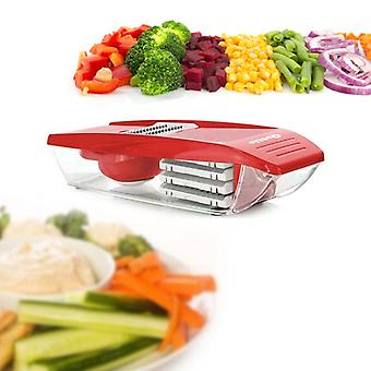 Vegetable Cutter and Grater with Collection container Quttin Red (30 X 11,5 x 8 cm)