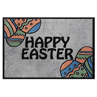 Design Doormat Dirt Trap Mat Happy Easter Grey Easter Decoration 40x60 cm