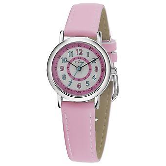ATRIUM Kids Wristwatch Analog Quartz Girl Faux Leather A31-104 rosa