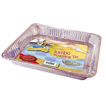 Kingfisher Jumbo Foil Rectangular Roasting Tin 5.3 x 40 x 33cm