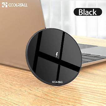 Coolreall 15W Qi Universal Wireless Charger Wireless Charging Pad Black