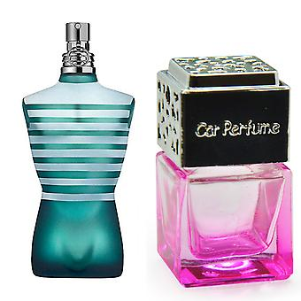 Jean Paul Gaultier Le Male For Him Inspired Fragrance 8ml Pink Bottle Chrome Lid Car Air Freshener Vent Clip