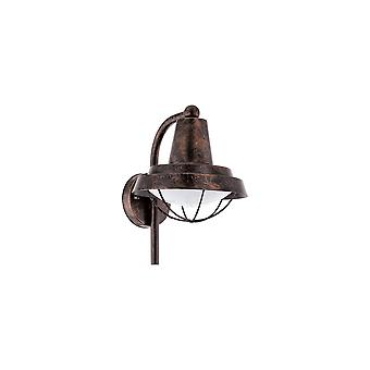 Eglo Colindres - 1 Light Outdoor Wall Light Antique Copper IP44 - EG94838
