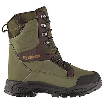Diem Mens All Terrain Fishing Boots Lace Up Waterproof Insulated Pattern