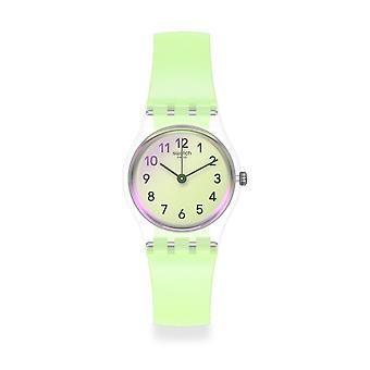Swatch Watches Lk397 Casual Green Silicone Watch