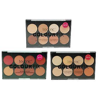 Technic 8 Fix Palette Sammlung 8 Kontur Farbpulver, 8 Cream Foundation & 8 Bronzepulver
