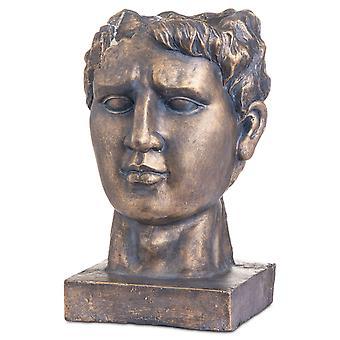 Hill Interieurs antieke stijl Bronzen Romeinse Hoofd Plantenbak