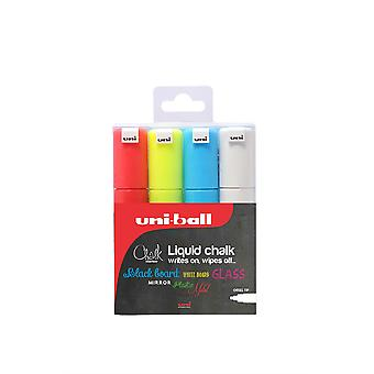 Uni-Ball PWE-8K Liquid Chalk Marker Set of 4 Colours