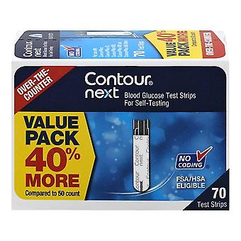 Contour next blood glucose strips, value pack, 70 ea