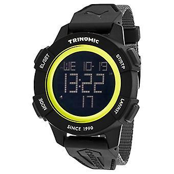 Cougar Time Trinomic wrist watch, digital, Nylon band, grey