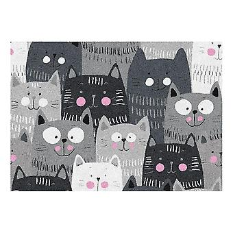 Kids Rug - Cats - Washable - 65 x 85 cm
