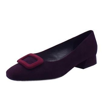 Peter Kaiser Zenda Wide Fit Low Heel Court Shoes In Wine Suede