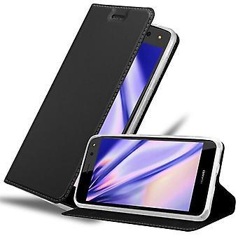 Huawei Y6 2017 -taitettavan puhelinkotelon kotelo - kansi - jalustatoiminnolla ja korttilokerolla