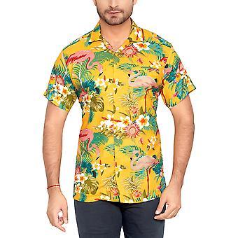 Club cubana men's regular fit classic short sleeve casual shirt cdkupb899