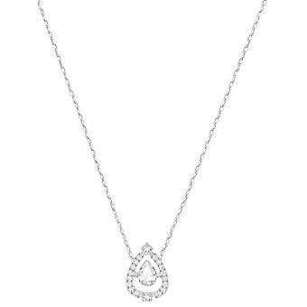 Kette und Anhänger Swarovski Schmuck 5451992 - Stahl-Silber Kristalle Swarovski Frau