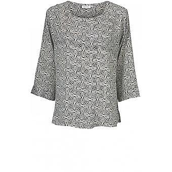 Masai klær daina geometrisk print topp
