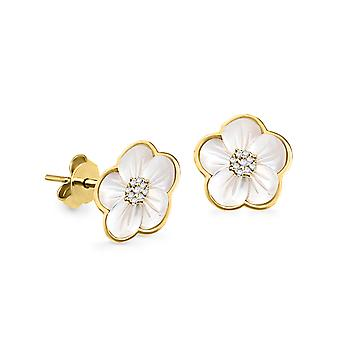 Earrings Heather 18K Gold and Diamonds - Yellow Gold