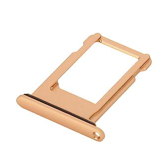 Nano-SIM card tray replacement part for Apple iPhone 8 - Rose Gold