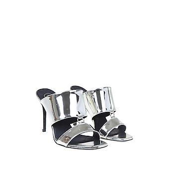 Balmain Tn0c478lvlh9ka Frauen's Silber Patent Leder Sandalen