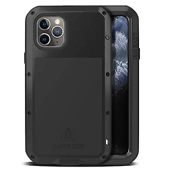Love Mei Waterproof Case iPhone 11 pro max Tempered Glass Powerful Black