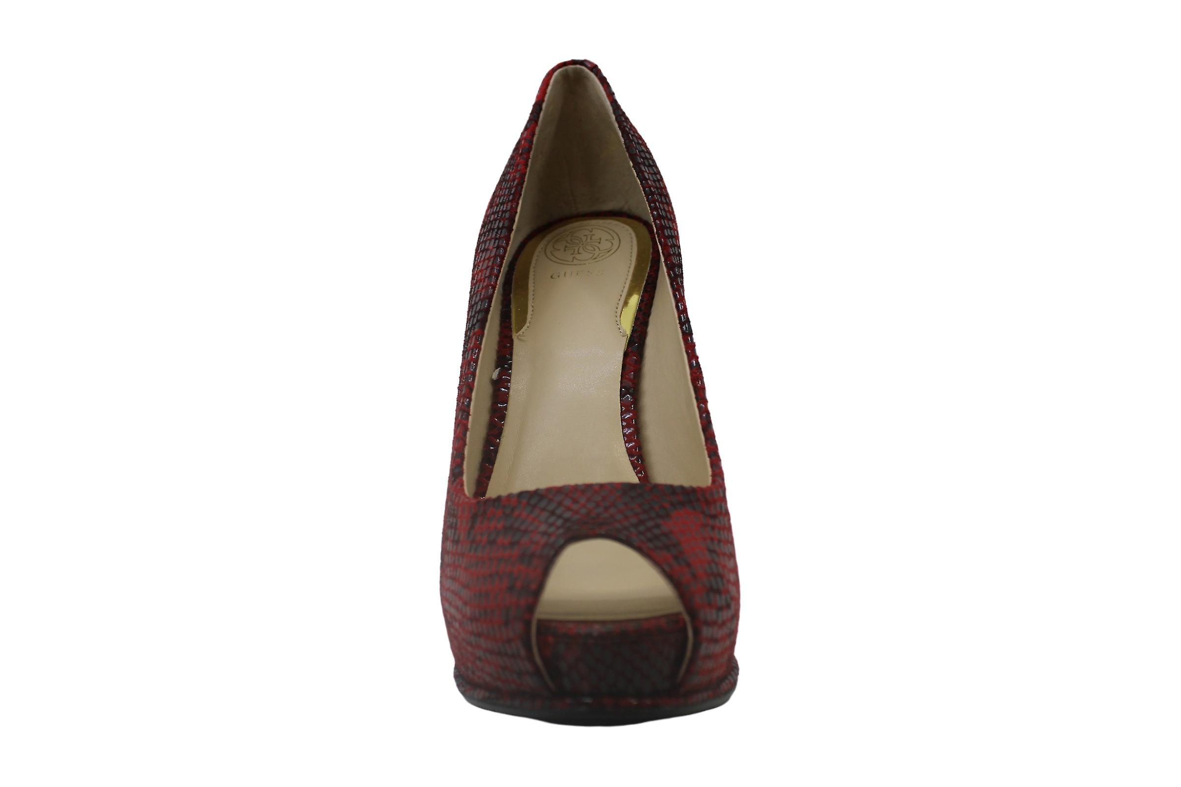 Guess Honora 3 Women Peep-Toe Synthetic Gray Heels 4K5oVM