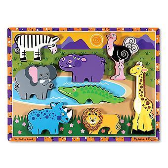Melissa & Doug Safari Wooden Chunky Puzzle