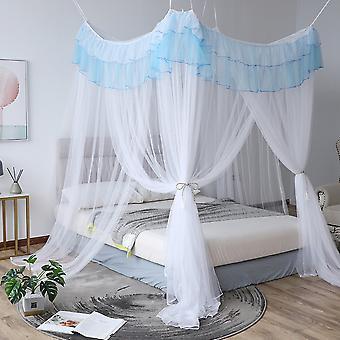 Mosquito net quadrado de três portas mosquito net anti-mosquito mordida em cama de solteiro e cama de casal fácil de instalar