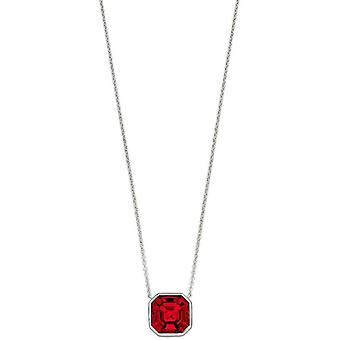 Elements Silver Imperial Cut Necklace - Silver/Scarlet Red