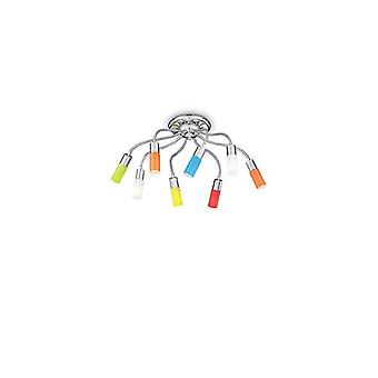 Ecoflex Multicolour Ceiling Light 8 Bulbs