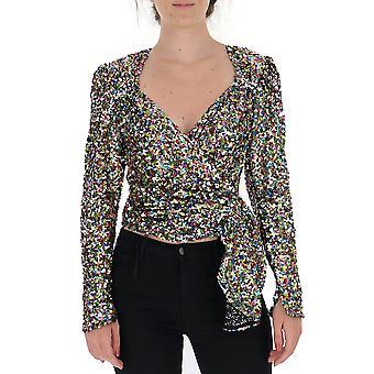 Attico 192wct11h012021 Kvinnor's Multicolor Glitter Top