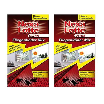 Sparset: 2 x NEXA LOTTE® Ultra Fly Lure Mix, 2 + 6 pieces