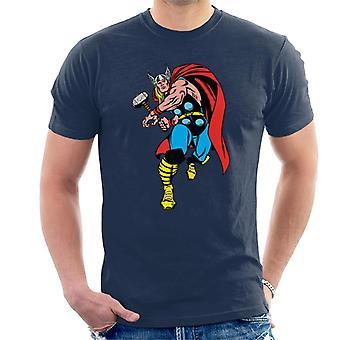 Marvel Thor About To Throw Mjolnir Miehet's T-paita