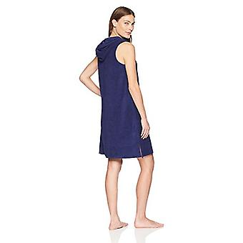 Brand - Arabella Women's Hoodie Pullover Loungewear Caftan,Navy,Small