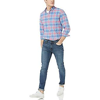 Goodthreads Men's Standard-Fit Langarm kariertes Oxford Shirt, rosa Denim kariert XXX-large