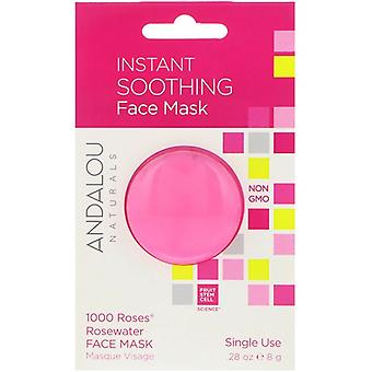 Andalou Naturals Instant Soothing Rosewater Face Mask