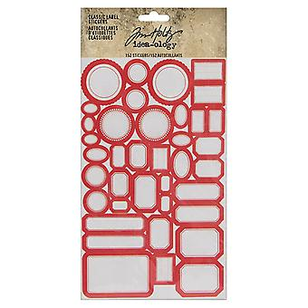 Advantus Tim Holtz Classic Label klistermærker (152stk) (TH93959)