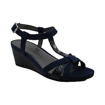 Karen Scott naisten Clarita kangas avoin toe rento nilkka hihna sandaalit